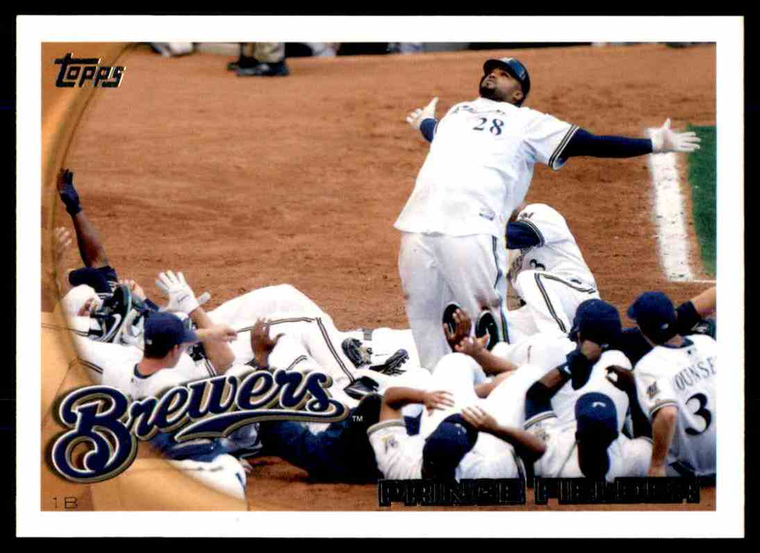 2010 Topps Prince Fielder #1 card front image