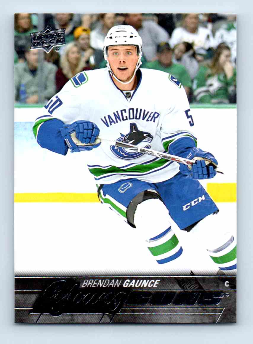 2015-16 Upper Deck Young Guns Brendan Gaunce #481 card front image