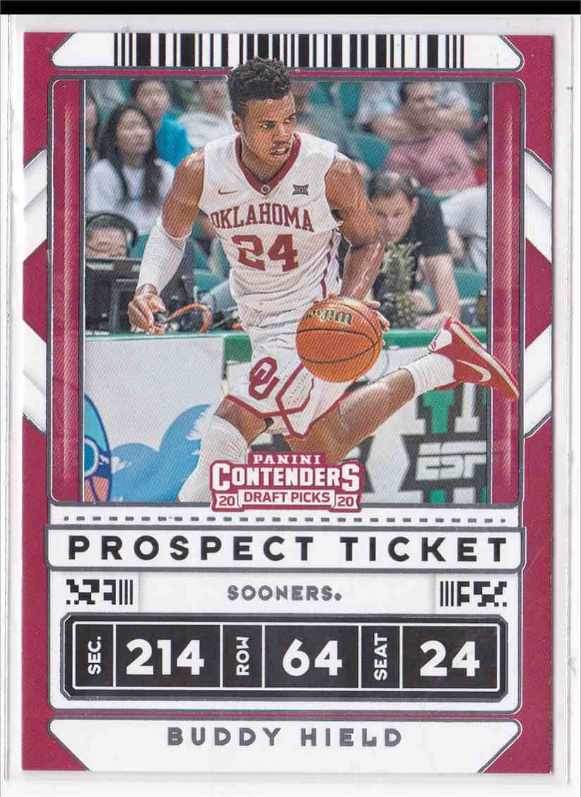 2020-21 Panini Contenders Draft Picks Prospect Ticket Buddy Hield #24 card front image