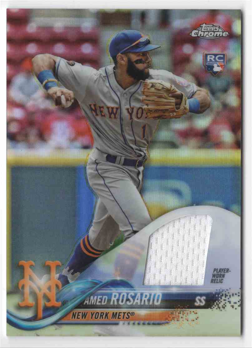 2018 Topps Chrome Rookie Relics Amed Rosario #WSE3 card front image