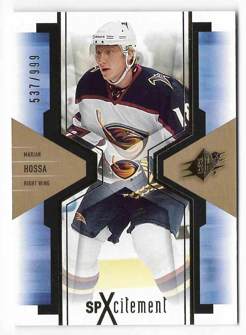 2006-07 Upper Deck SPx Marian Hossa #X5 card front image