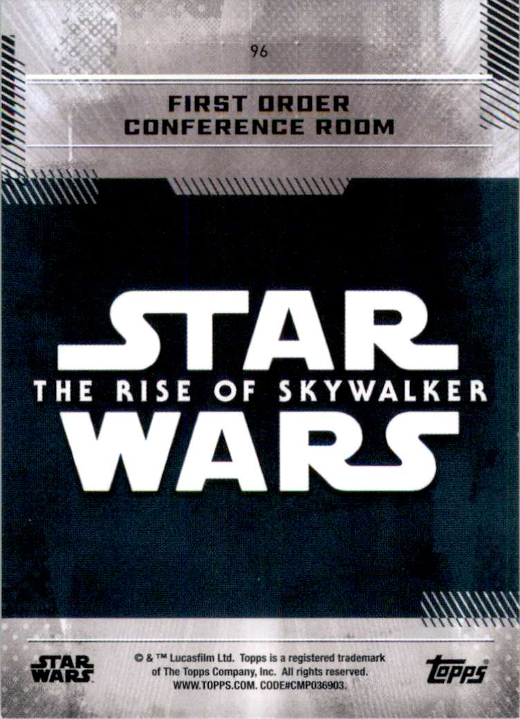 2019 Star Wars The Rise Of Skywalker Series One Resistance Sanctuary #96 card back image