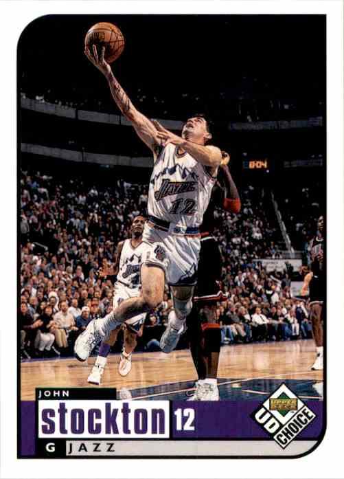 1998-99 UD Choice John Stockton #142 card front image
