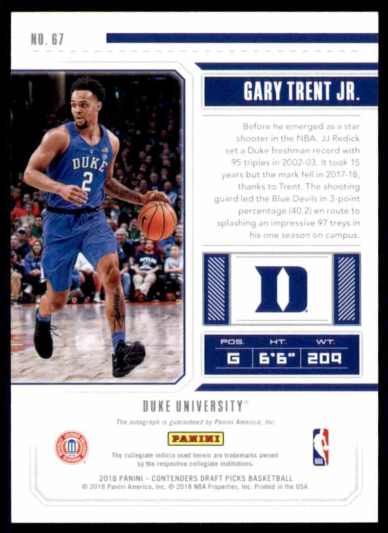 Auto 2018-19 Panini Contenders Draft Picks 67.1 College Ticket Gary Trent Jr Jr Verzamelkaarten: sport Basketbal