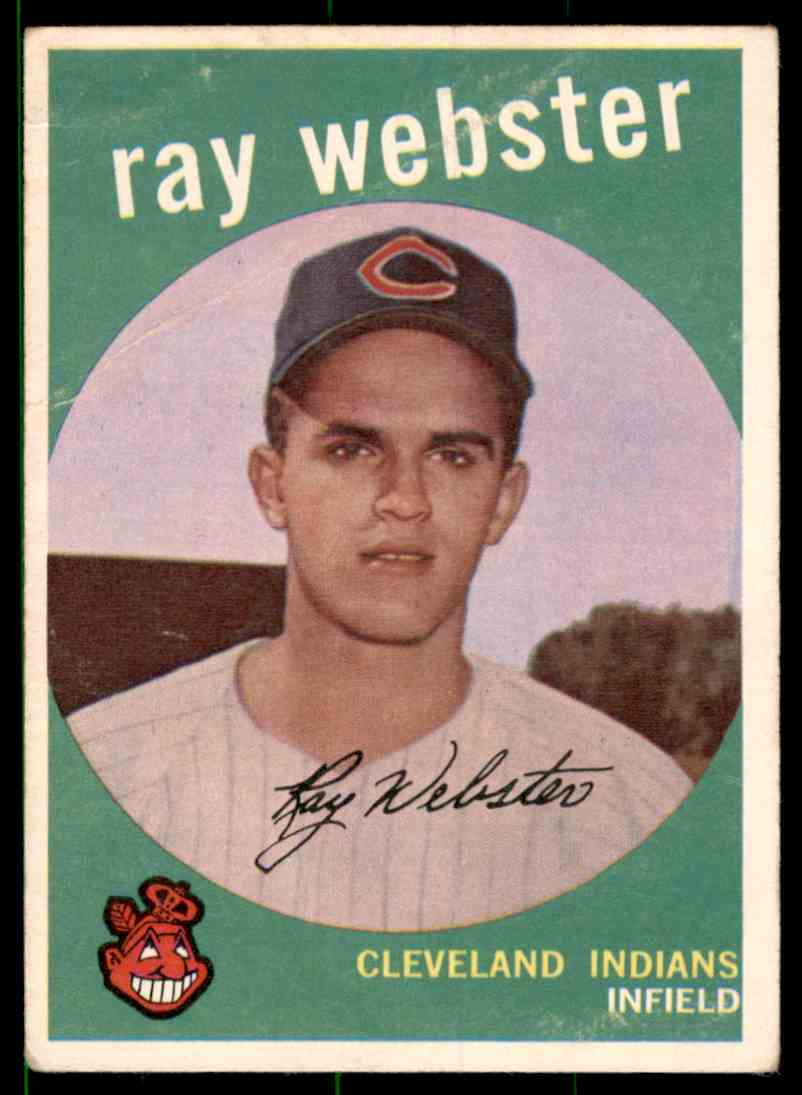 1959 Topps Ray Webster RC #531 card front image