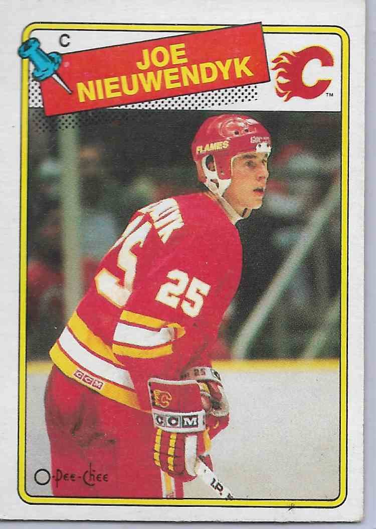 1988-89 O-Pee-Chee Joe Nieuwendyk #16 card front image