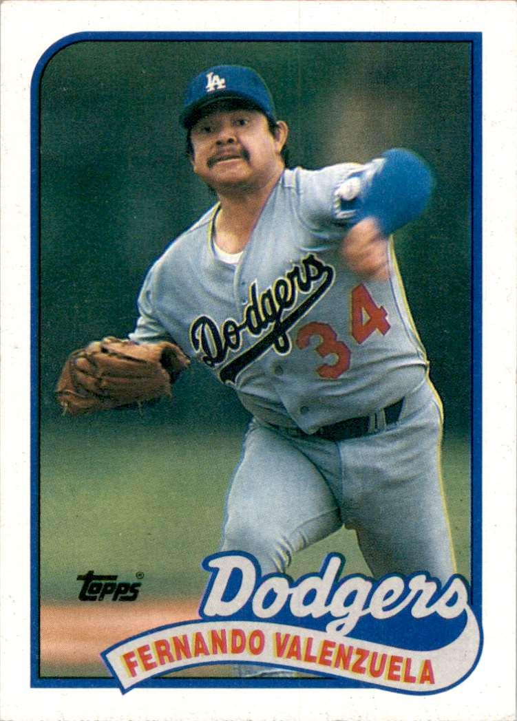 1989 Topps Fernando Valenzuela #150 card front image