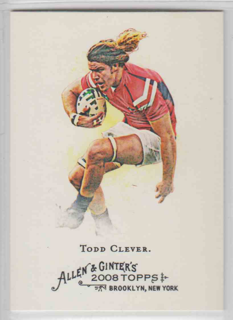 2008 Topps Allen And Ginter Todd Clever #238 card front image