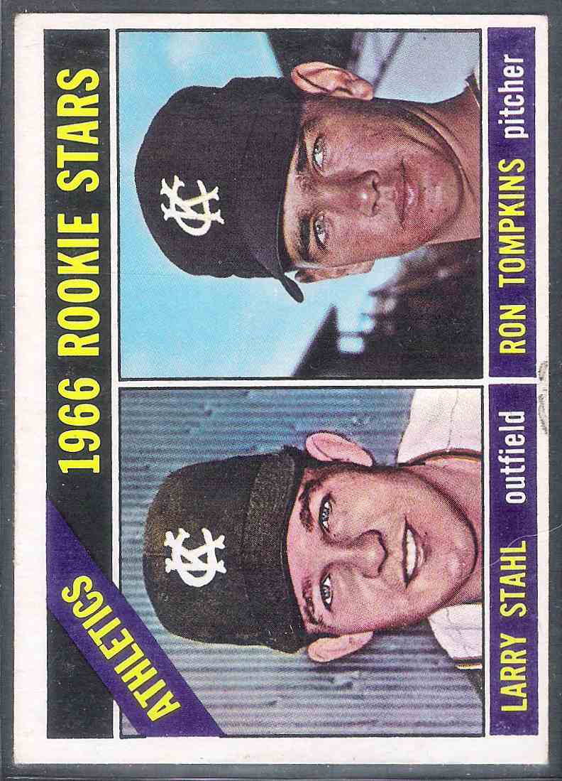 1966 Topps Larry Stahl Ron Tompkins #107 card front image