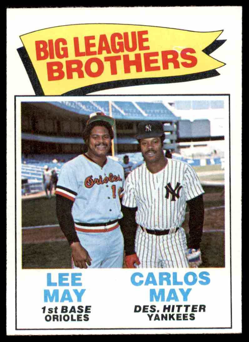 1977 Topps Big League Brothers May 633 On Kronozio