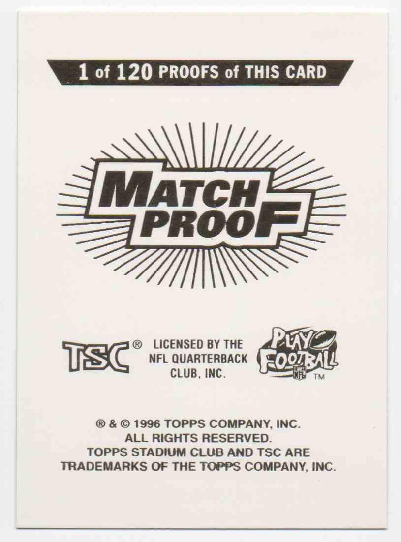 1996 Stadium Club Match Proof Warren Moon #45 card back image