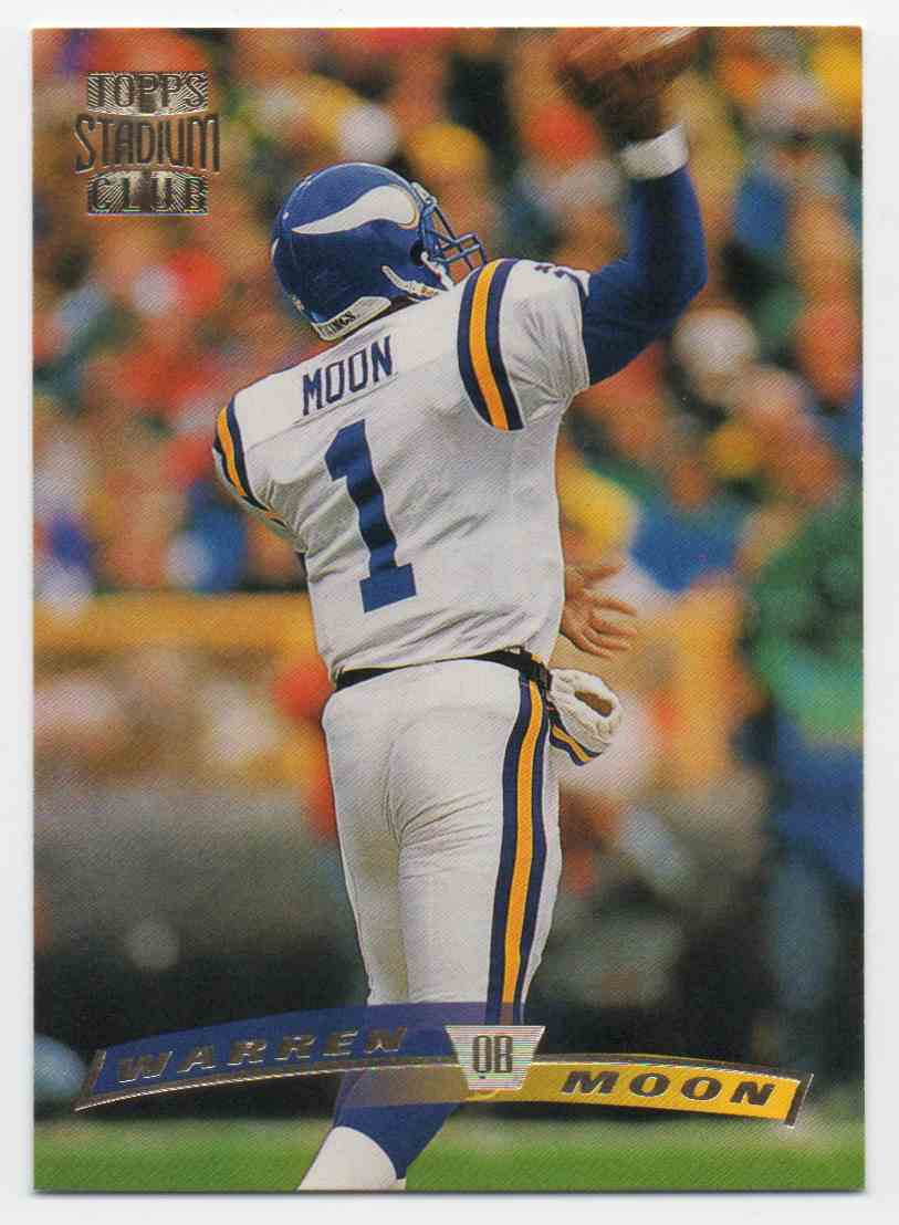 1996 Stadium Club Match Proof Warren Moon #45 card front image