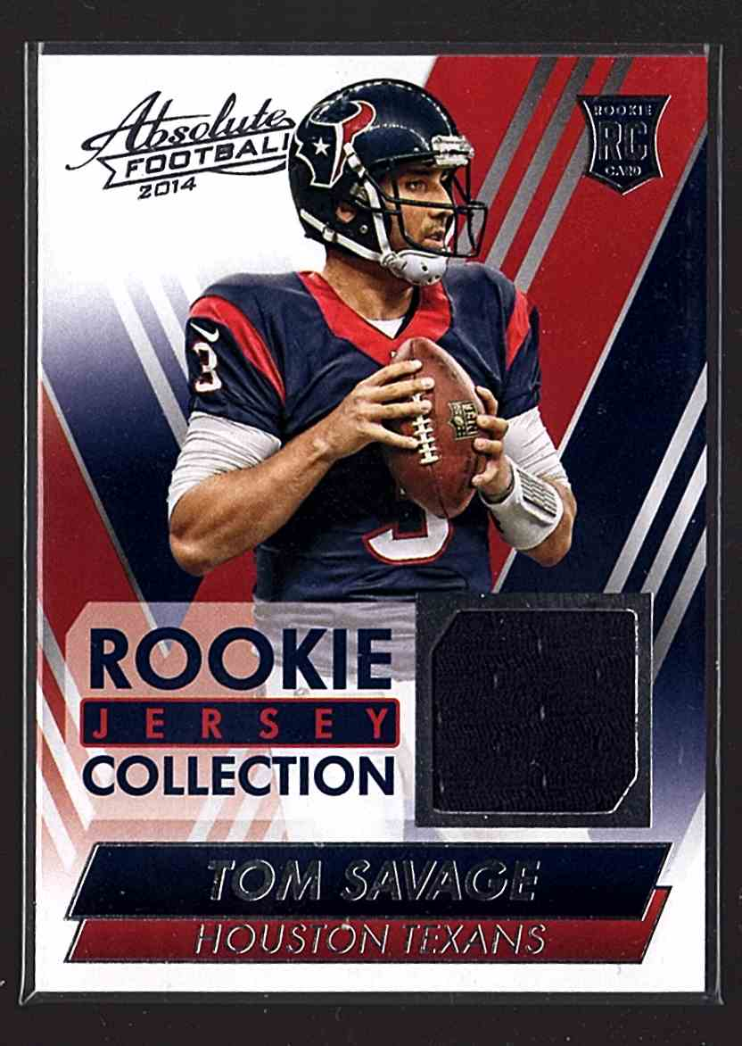 huge discount 73fba a5527 2014 Absolute Rookie Jersey Collection Tom Savage #TS on ...