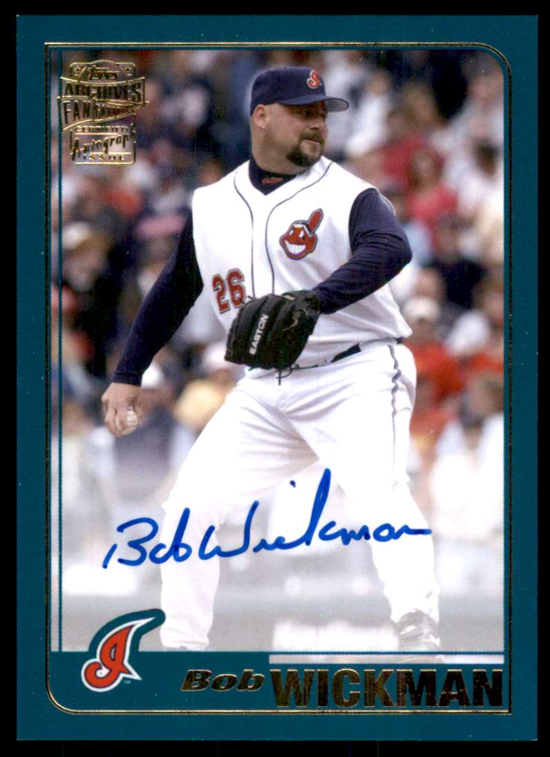 2020 Topps Archives Fan Favorites Autographs Bob Wickman #FFABW card front image