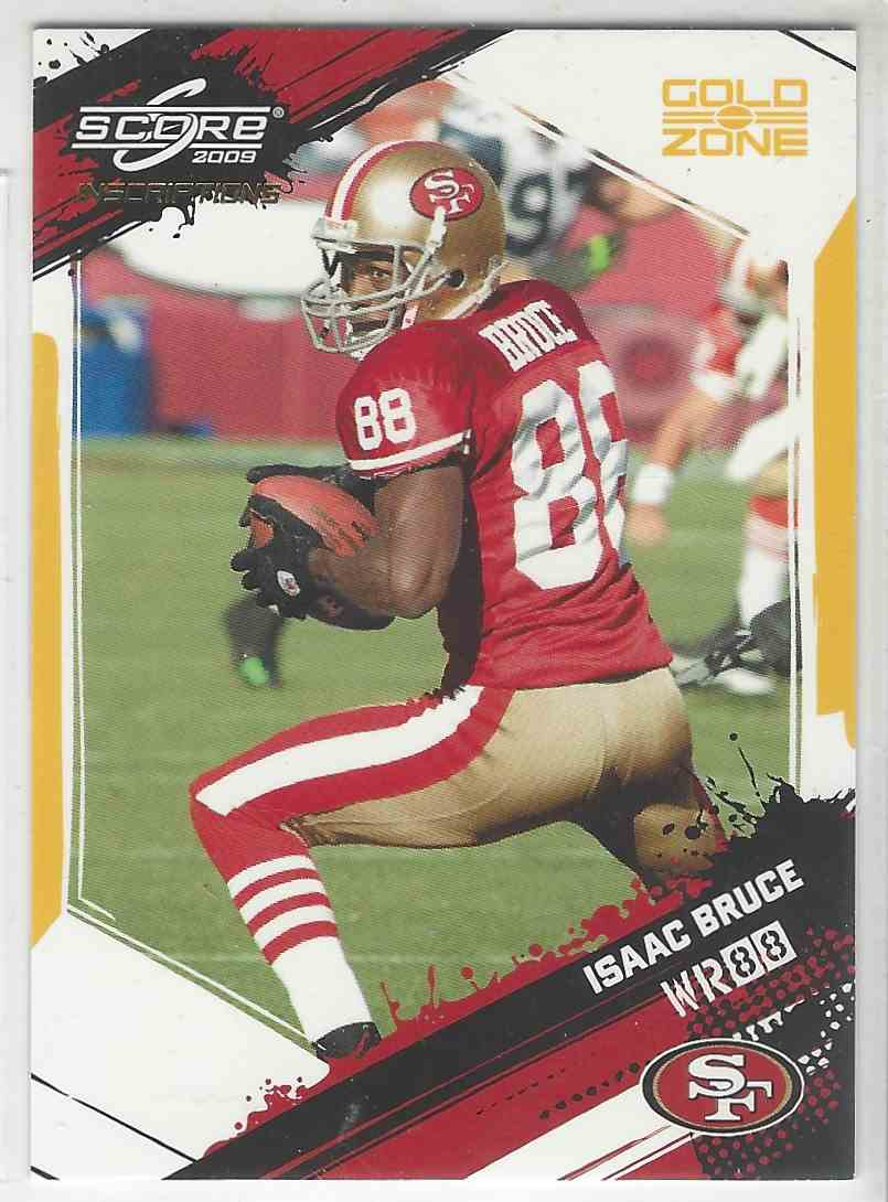 2009 Score Gold Zone Isaac Bruce #248 card front image