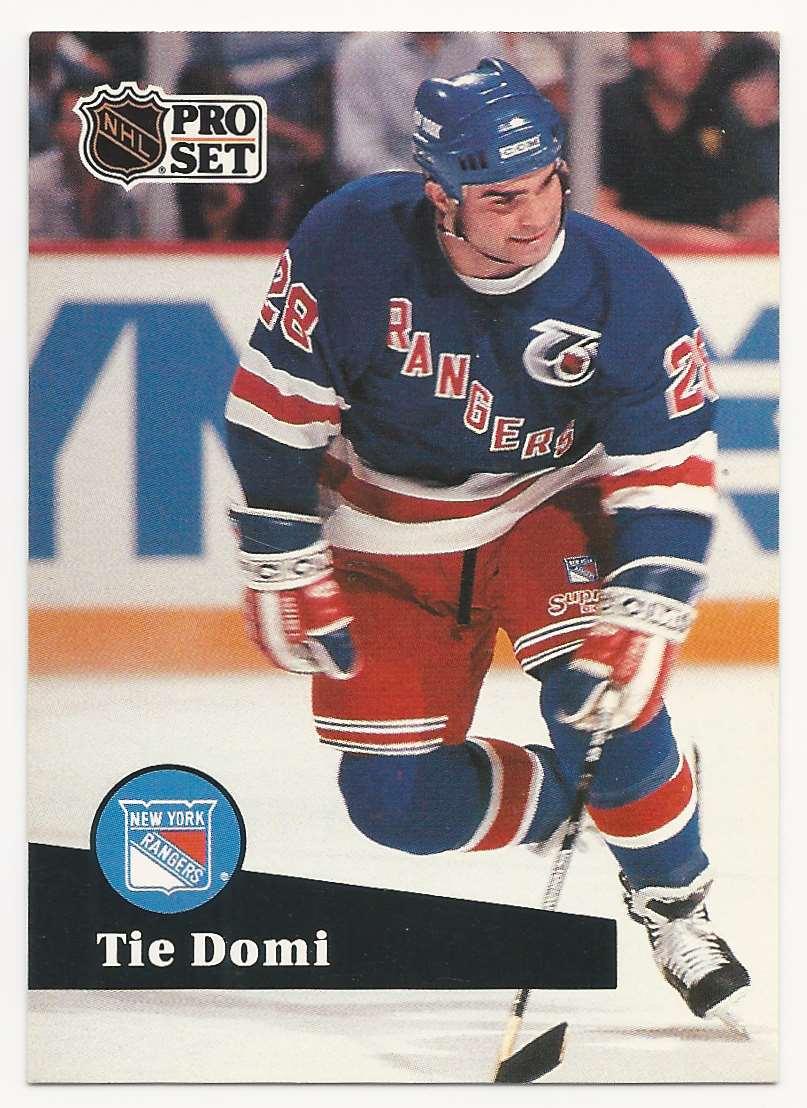 1991-92 Pro Set Tie Domi #440 card front image