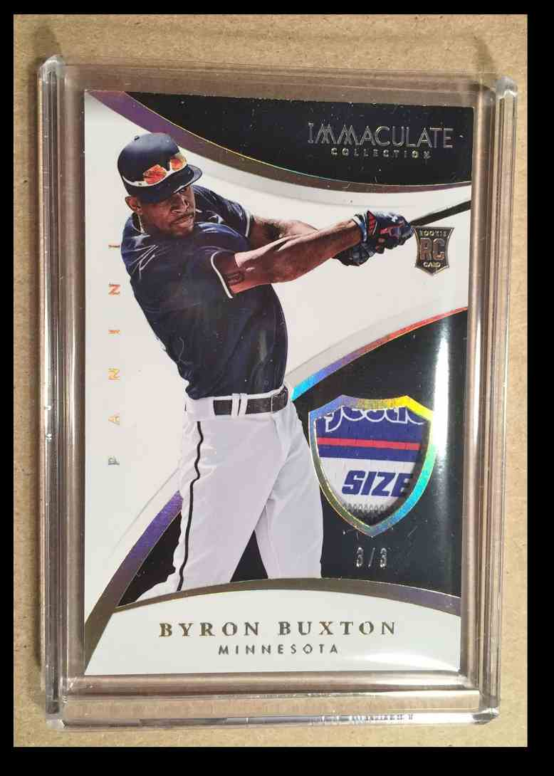 2015 Panini Immaculate Byron Buxton card front image