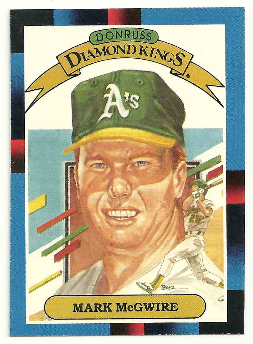 1987 Donruss Diamond Kings Mark Mcgwire 1 On Kronozio