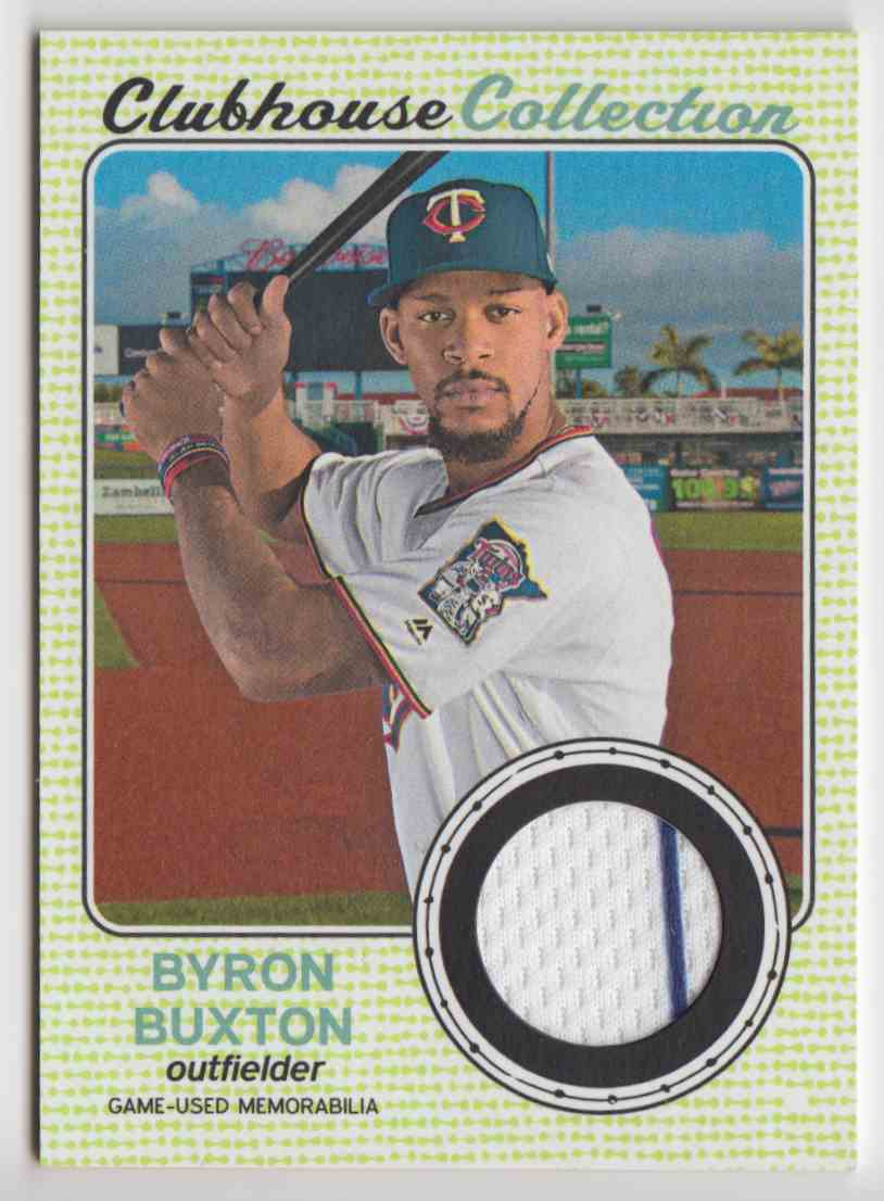 2017 Topps Heritage High Clubhouse Collection Relics Byron Buxton #CCR-BB card front image