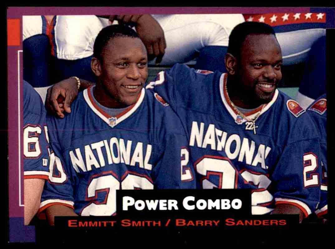 1993 Pro Set Power Combo NFL Pro Bowl Emmitt Smith Barry Sanders card front image