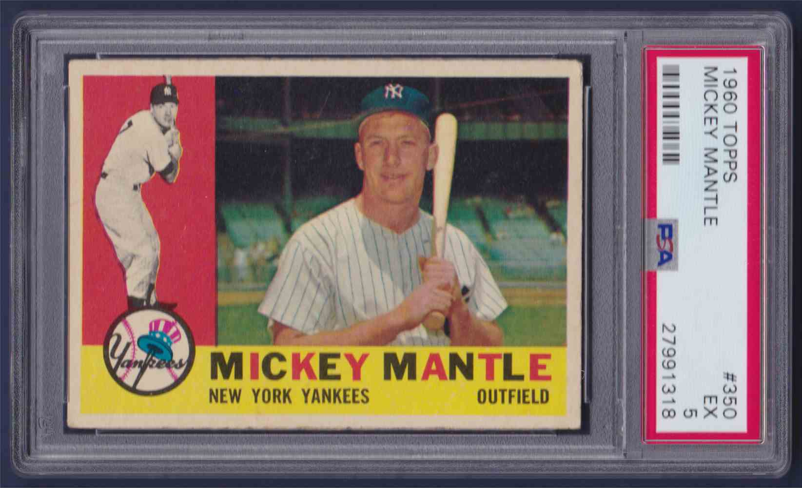 1960 Topps Mickey Mantle #350 card front image