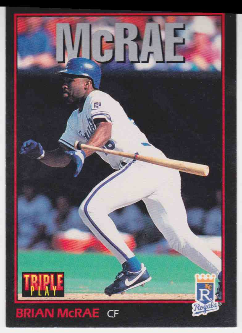 1993 Triple Play Brian Mcrae 21 On Kronozio