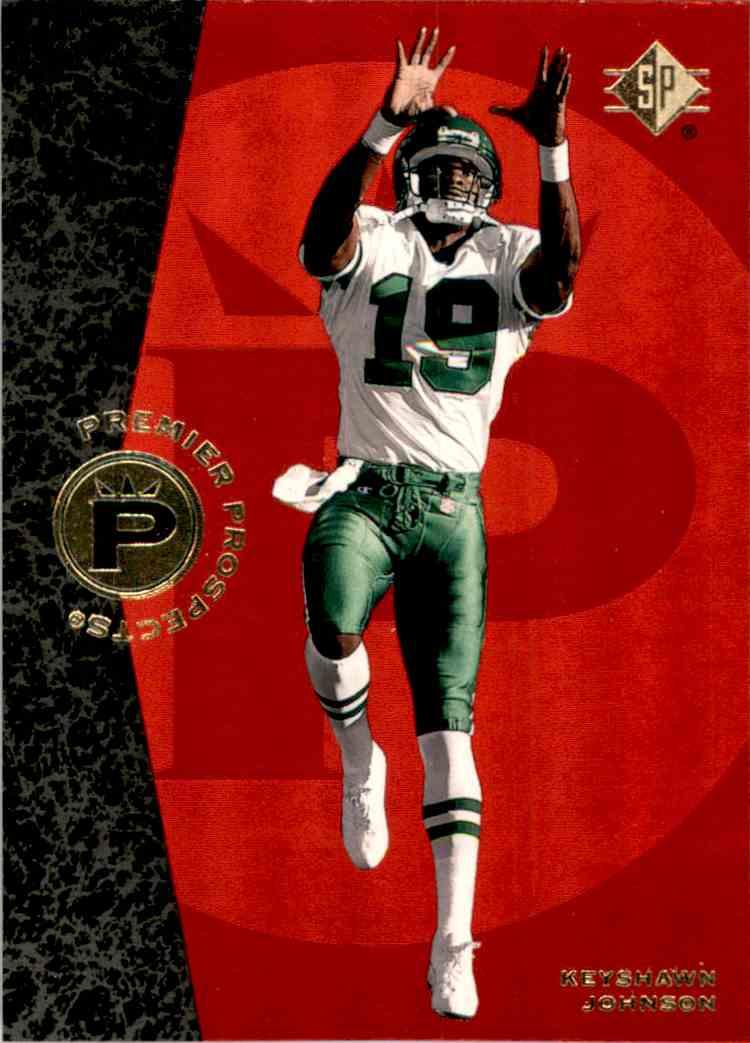 1996 SP Keyshawn Johnson #1 card front image