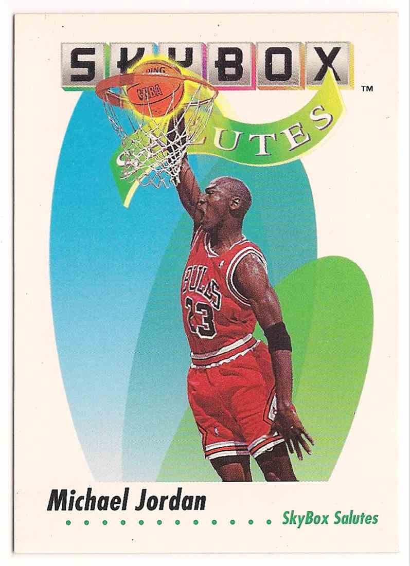 1991-92 Skybox Salutes Michael Jordan #572 card front image