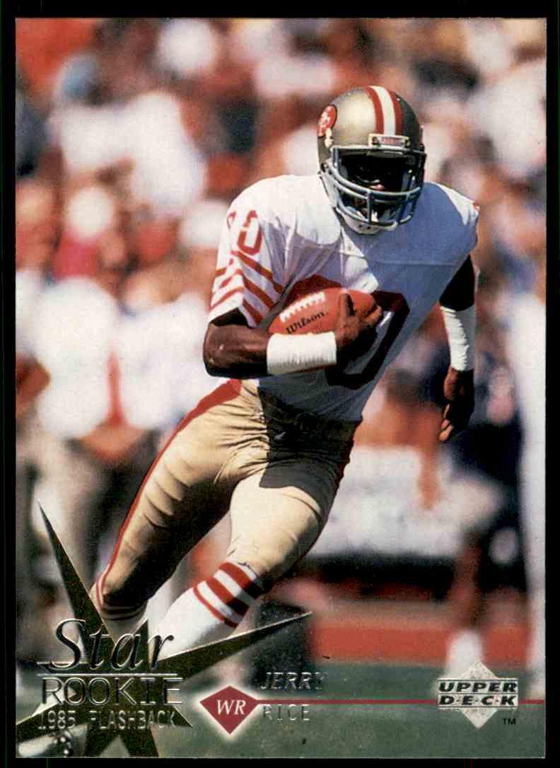 1997 Upper Deck Star Rookie 1985 Flashback Jerry Rice 35 On