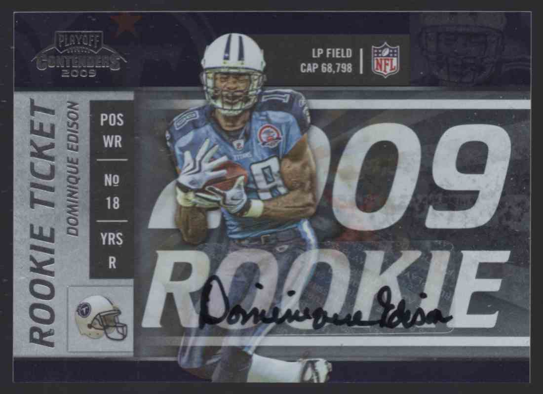 2009 Playoff Contenders Dominique Edison #162 card front image