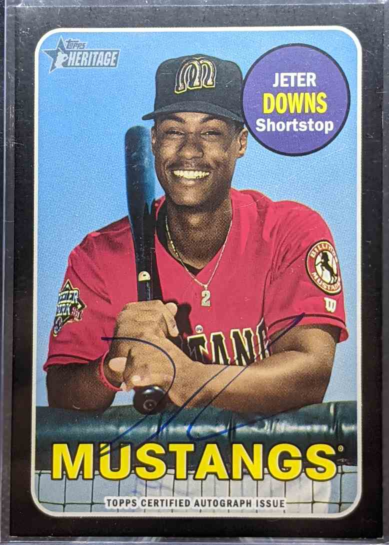 2018 Topps Heritage Jeter Downs #ROA-JD card front image