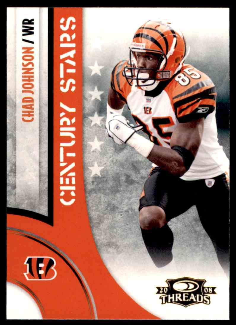 2008 Donruss Threads Century Stars Chad Johnson #CS-6 card front image