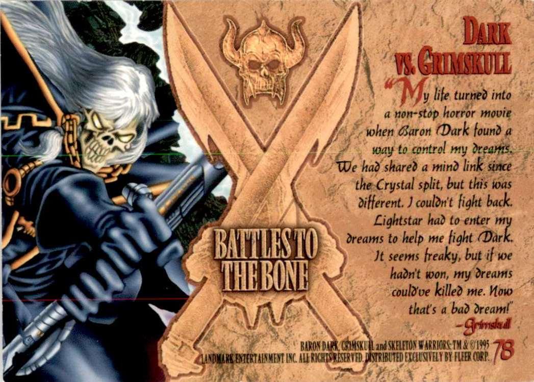 1995 Skeleton Warriors Ultra Dark Vs. Grimskull #78 card back image
