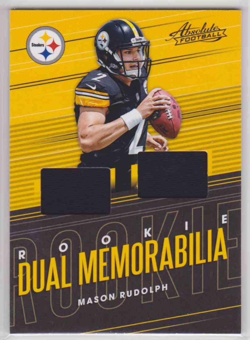 2018 Absolute Rookie Dual Memorabilia Mason Rudolph #RDM-MR card front image