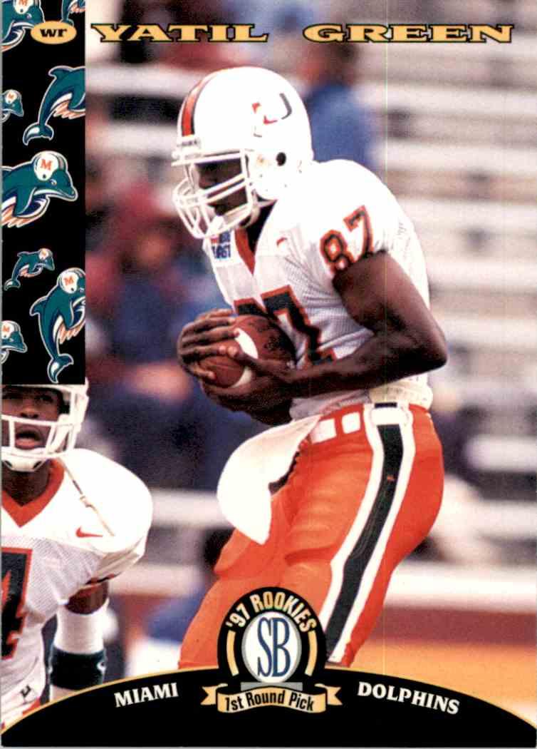 1997 Score Board NFL Rookies Yatil Green #12 card front image