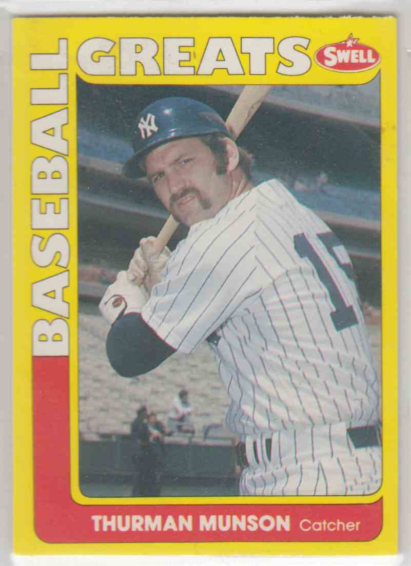 e90b130c2cd 1991 Swell Baseball Greats Thurman Munson  149