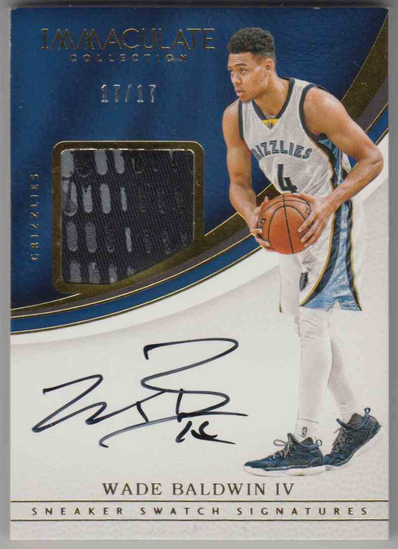 2016-17 Panini Immaculate Collection Sneaker Swatch Signatures Wade Baldwin IV #SM-WB4 card front image