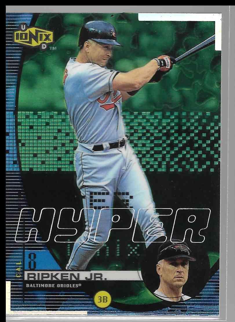 1997 Fleer Ultra Leather Shop #3 Cal Ripken Jr Baltimore Orioles Baseball Card