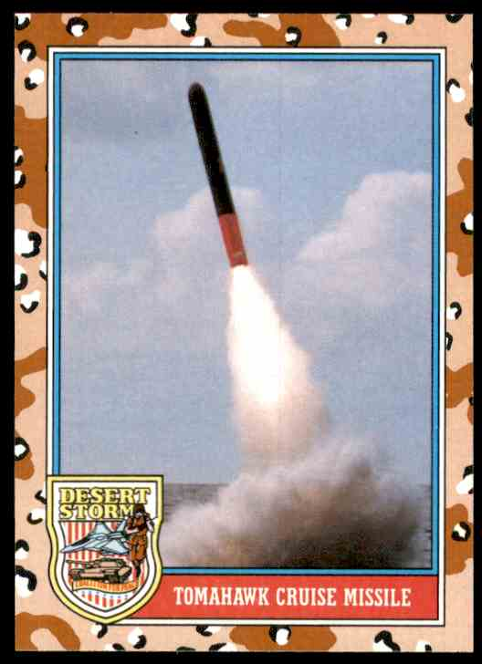 1991 Desert Storm Topps Tomahawk Cruise Missile #167 card front image