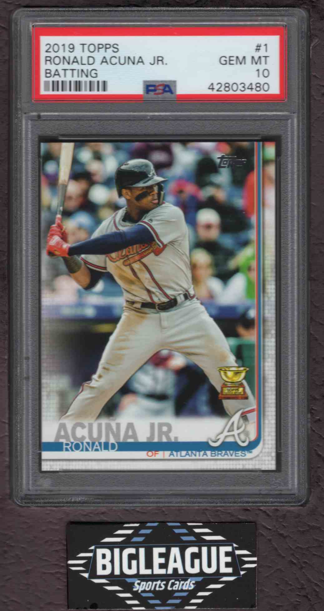 2019 Topps Series 1 Rookie Cup Ronald Acuna Jr 1 On