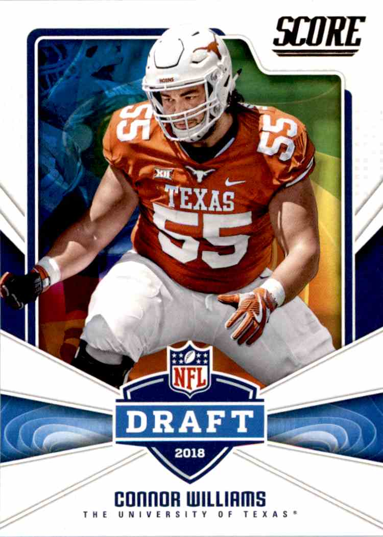 2018 Panini Score Draft Connor Williams #10 card front image