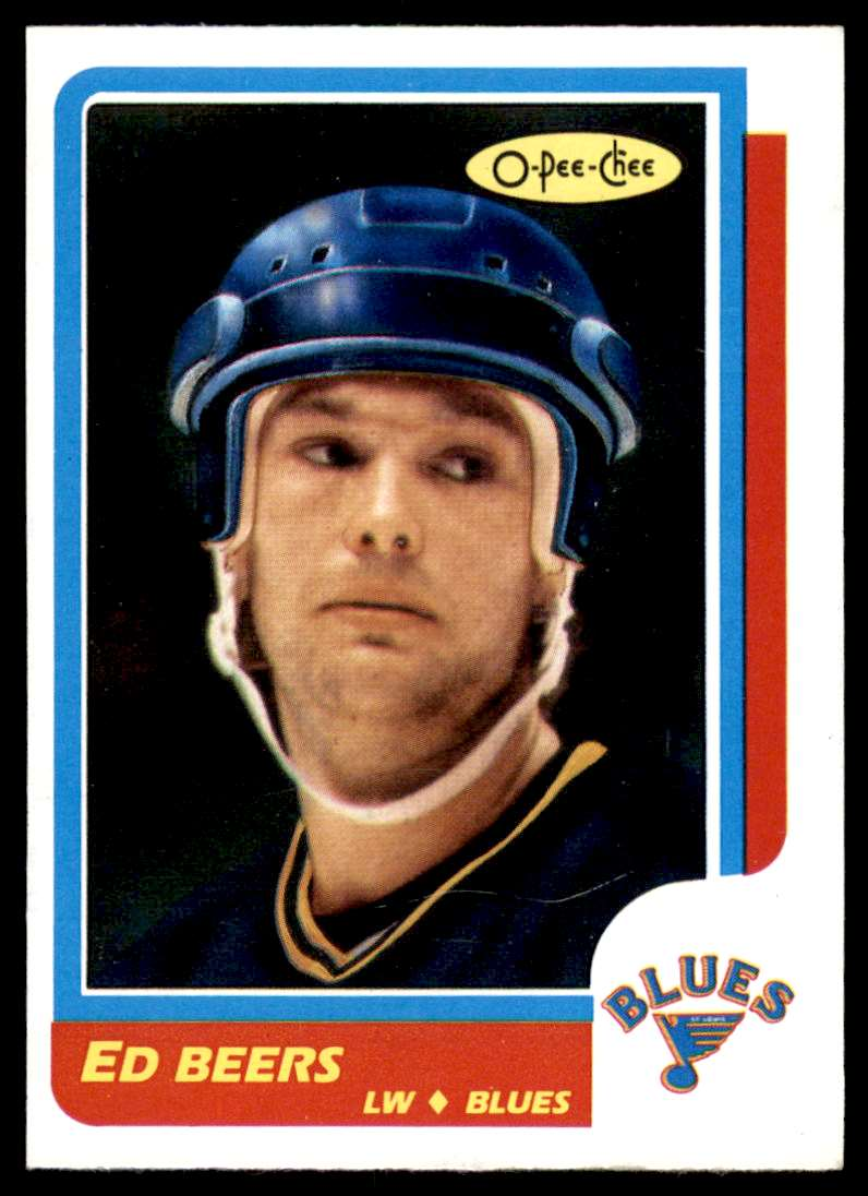 1986-87 OPC Ed Beers #238 card front image