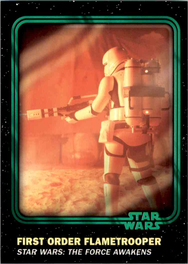 2016 Star Wars Card Trader Green First Order Flametrooper #57 card front image