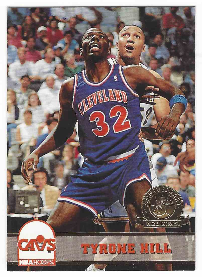 1993 94 NBA Hoops 5th Anniversary Tyrone Hill 316 on Kronozio