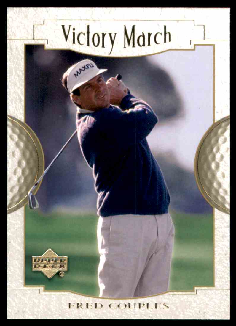 2001 Upper Deck Fred Couples VM #169 card front image