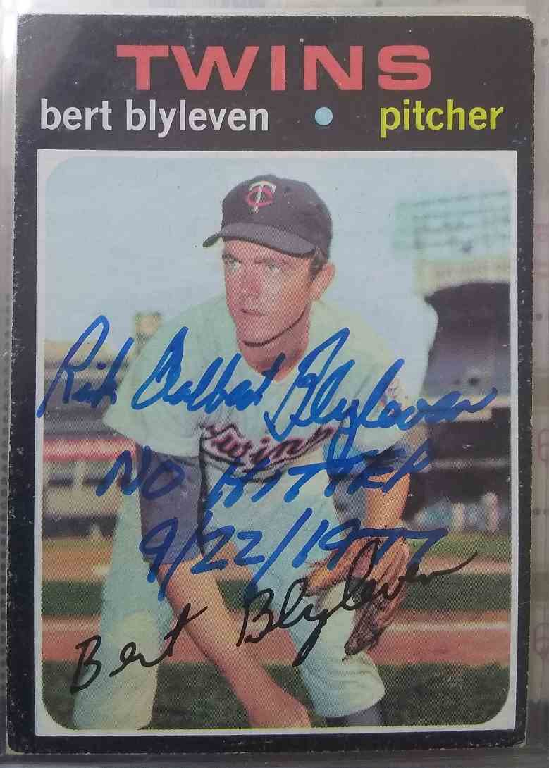 1971 Topps Bert Blyleven #26 card front image