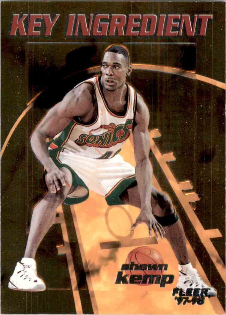 1997-98 Fleer Key Ingredient Shawn Kemp #5 card front image