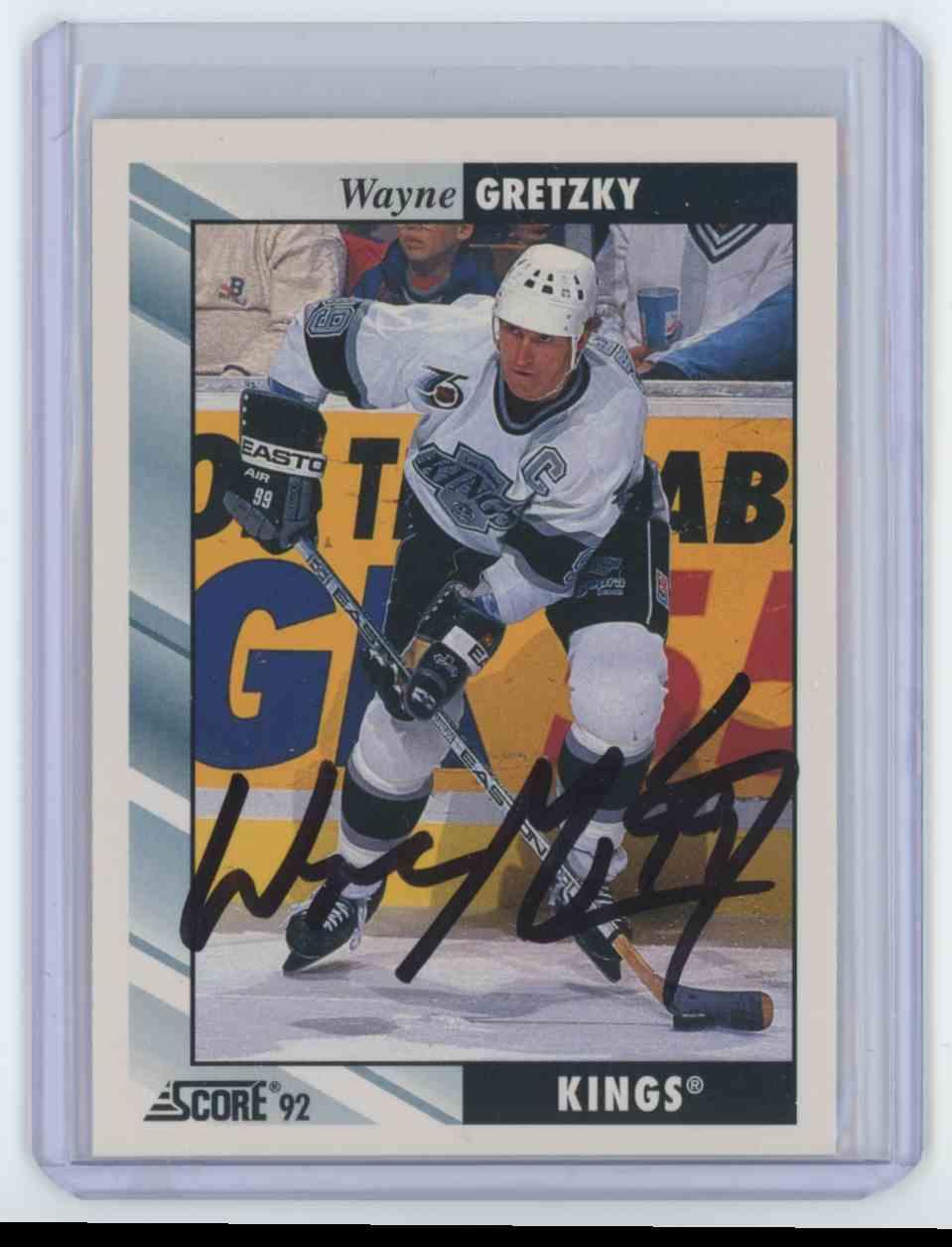 1992 1992-93 Score Wayne Gretzky #1 Los Angeles Kings Auto Wayne Gretzky #1 card front image