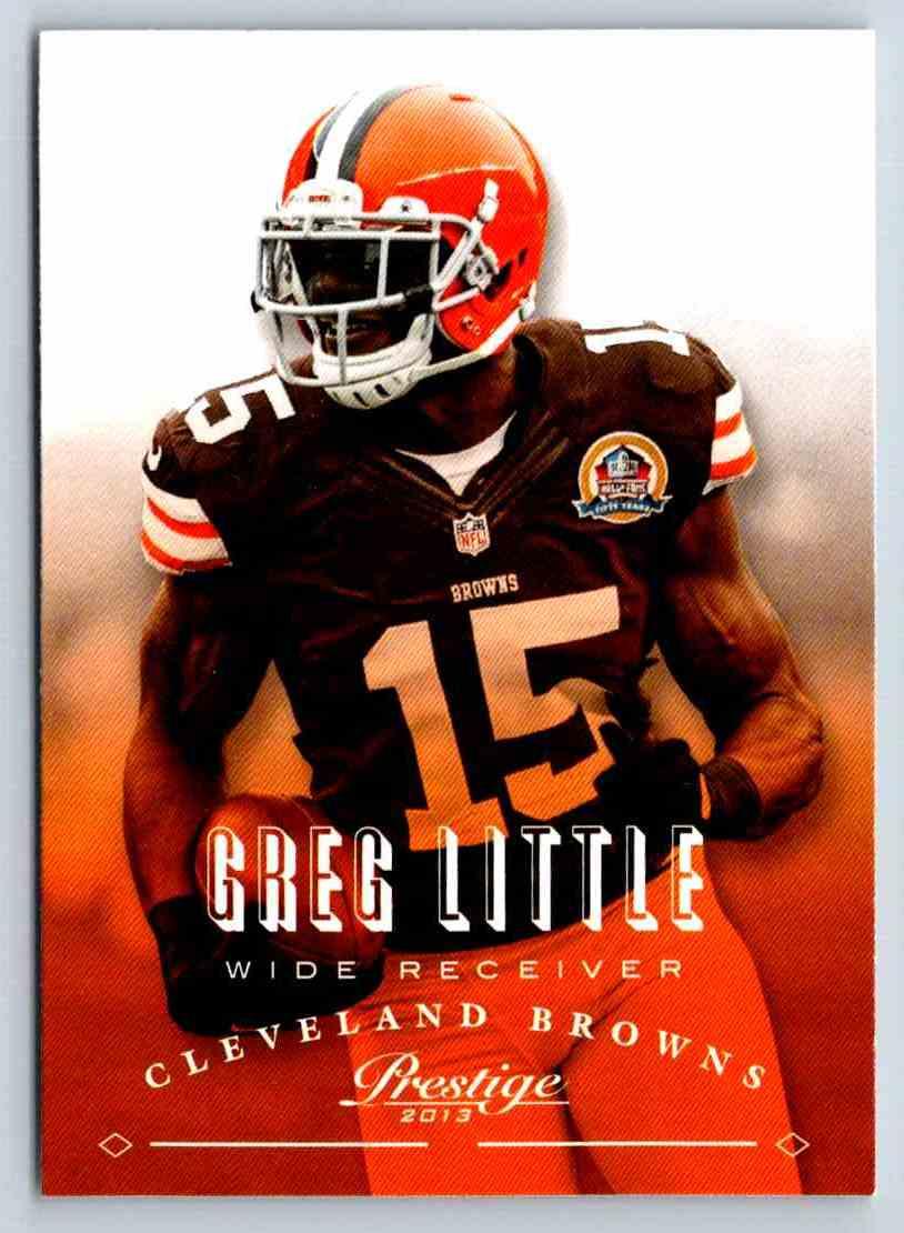 2013 Prestige Greg Little #46 card front image