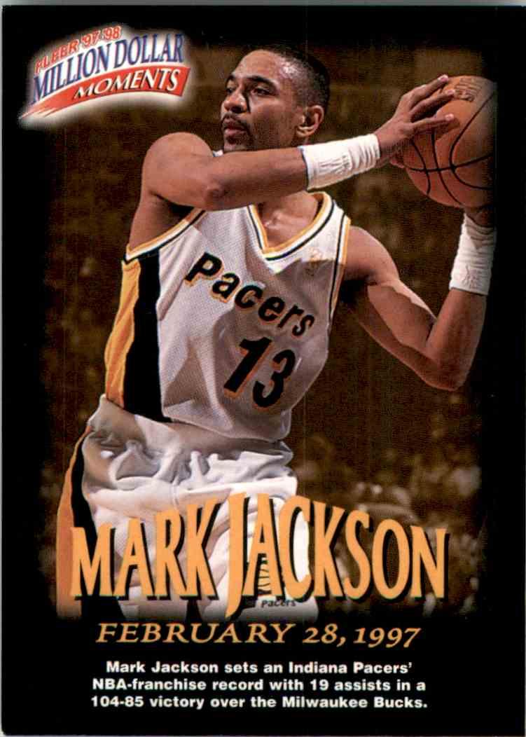 1997-98 Fleer Million Dollar Moments Mark Jackson #2 card front image